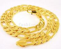 Fashion1uk 24k Placcato Oro Grande Classica Da Uomo Piatta Catena Pesante - catena - ebay.it
