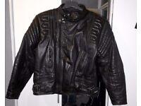 Bikers, Motorcycle Leather Jacket UK 46 inch