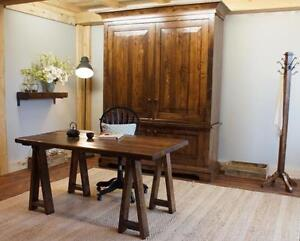 Reclaimed Wood Office Furniture: Farmhouse Office Suite Armoire ($4195) Desk ($1195). By LIKEN