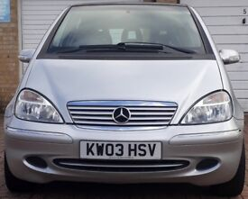 MERCEDES A140 AVANTGARDE LOW MILEAGE SILVER METALLIC VERY GOOD CONDITION LEATHER