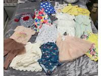 9-12 month summer baby bundle includes swimsuits, dresses, rompers