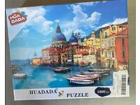 1000 piece jigsaw puzzle still sealed unwrapped great Christmas present collect Ng5 .