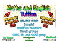 Primary and secondary tuition. 2 hours £20