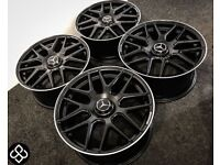 "BRAND NEW MERCEDES 19"" AMG STYLE ALLOY WHEELS - AVAILABLE WITH TYRES - 5 X 112"
