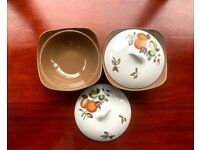 1960s Staffordshire Midwinter Stylecraft Tureen / Serving Dish with Lid - PAIR