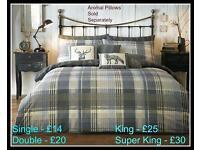 Brecon Charcoal Duvet Sets