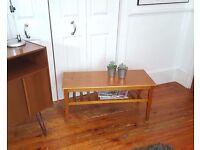 Vintage Mid Century Oak Coffee Table