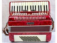Studio 72 Bass 3 Voice Accordion - 34 Treble Keys - Case & Straps