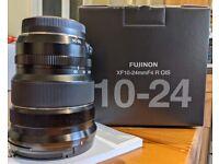 Fujifilm 10-24mm Lens - Excellent Condition - Warranty