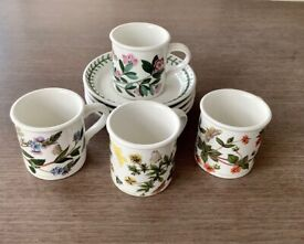 Portmeirion Botanical Gardens, coffee cups and saucers.