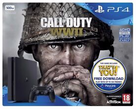 Sony PlayStation PS4 500GB Call of Duty: WWII & That's You Console Bundle (BRAND NEW)