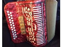 Hohner Amatona IV Deluxe BC tuned four voice (L, M, LMMM, LM and MMM) diatonic accordion (melodeon)