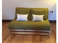 2 seater sold birch linear frame sofa bed with drawer by Futon Company!