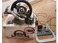 Xbox 360 official driving wheel with force feedback