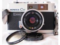 KONICA C35 AUTOMATIC 35MM FILM RANGEFINDER CAMERA - GOOD CONDITION