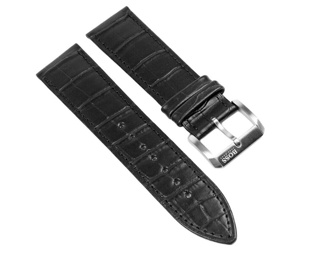 Hugo Boss Ersatzband Uhrenarmband Leder 23mm Schwarz 1512030-LB HB.22.1.14.2008