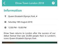 2 x Elrow Tickets - London 18.8.18