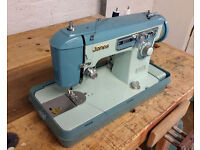 Vintage Jones sewing machine - with case, footswitch