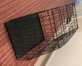 Deluxe angled dog crate (fits in hatchback cars) - never been used