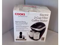 Cooks Professional Electric 2 Cup Filter Coffee Maker Red