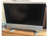 "Sharp AQUOS 32"" LCD colour TV (No remote) CARDIFF AREA"
