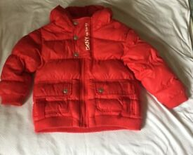 Boys red DKNY jacket age 2