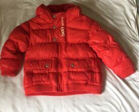 Boys red DKNY jacket age 2
