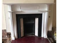 Large Victorian fireplace surround