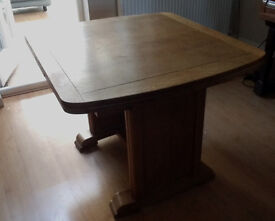 Vintage Utility Furniture dining room table, Oak veneer