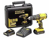 Brand new boxed Stanley FatMax 18 volt drill w/ 2 lithium batteries (£90 in Argos) central bargain