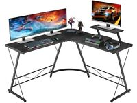 Corner Gaming Desk with Large Monitor Stand