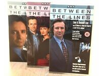 BETWEEN THE LINES - THREE VHS TAPES WITH NINE EPISODES
