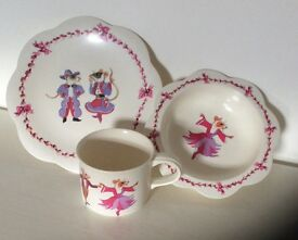 Lovely girls Emma Bridgewater melamine feeding set Dancing Mice plate bowl and cup
