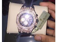 Fully iced out diamond audemars piguet watch