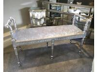 NEW CRAFTSMAN MADE SILVER BENCH/LONG STOOL