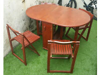 Folding table with 4 chairs for sale