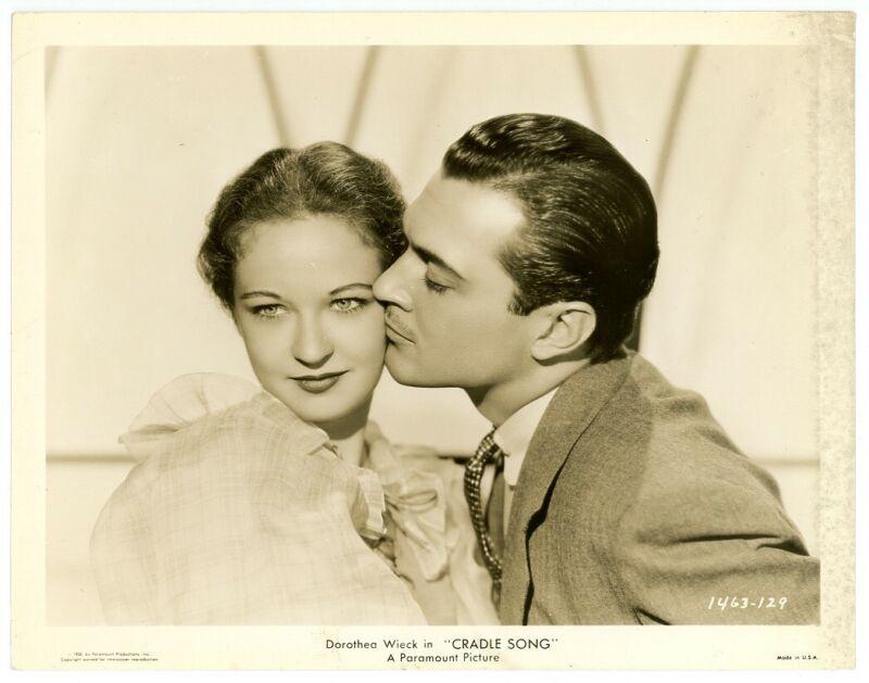 EVELYN VENABLE, KENT TAYLOR original movie photo 1933 CRADLE SONG