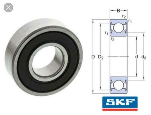 6003-2RS C3 SKF Brand rubber seals bearing 6003-rs ball bearings 6003 RS1 C3