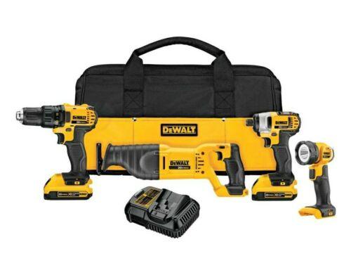 DeWALT DCK420D2 - 20V MAX Li-Ion 4-Tool Combo Kit with 2 Bat