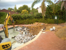 THOR earthworx Concrete Removal Swimming Pool Removal Turf Prep