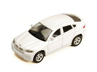 Rmz City Uni-fortune Bmw X6 Hard Top Pull Back Action 1:64 Diecast Car White