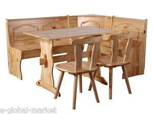 corner kitchen bench table 2 chairs storage solid wooden