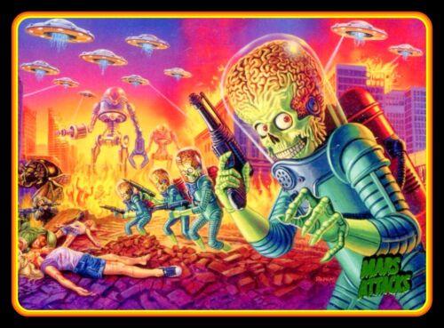 """BIG 5"""" Mars Attacks vinyl sticker. Alien movie monster UFO decal 4 car, laptop."""