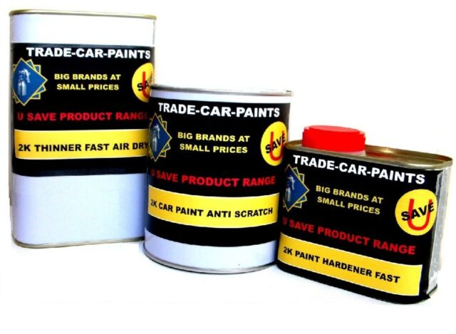 CAR PAINT 2k ACRYLIC FORD ROSSO RED GLOSS  2.5lt KIT FANTASTIC QUALITY