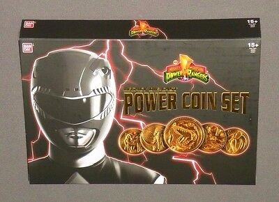 Power Rangers Legacy Die-Cast Power Coin Set with 5 Gold Coins