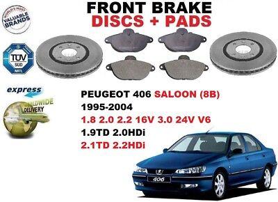 FOR Peugeot 406 ALL MODELS 1997-2004 FRONT BRAKE DISCS SET AND DISC PADS KIT