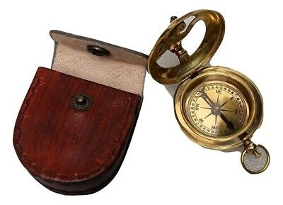 Other Maritime Antiques Vintage Antique Maritime Brass Pocket Watch Kelvin & Hughes With Wooden Box Gift High Standard In Quality And Hygiene Maritime