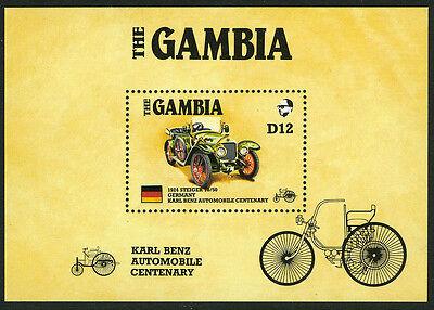Gambia 629 S S  Mi Bl 24  Mnh  Karl Benz Automobile Centenary  Ameripex  1986
