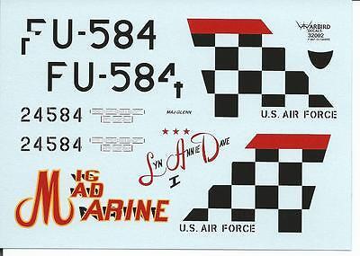 John Glenn's F-86F-30 Sabre Decals 1/32 002, 'Mig Mad - Mig Mad Marine