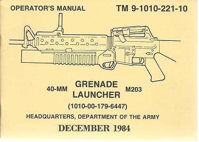 40-MM Grenade Launcher M203, Operator's Manual  for sale  Shipping to Canada
